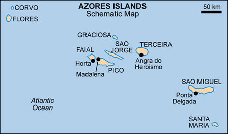 azores map african bird club