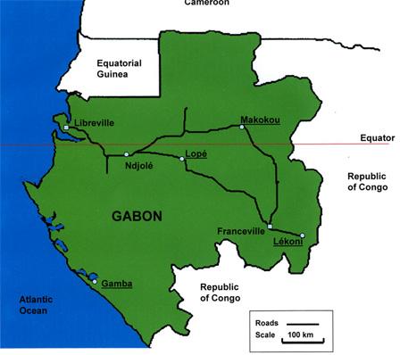 Gabon Map African Bird Club - Gabon map