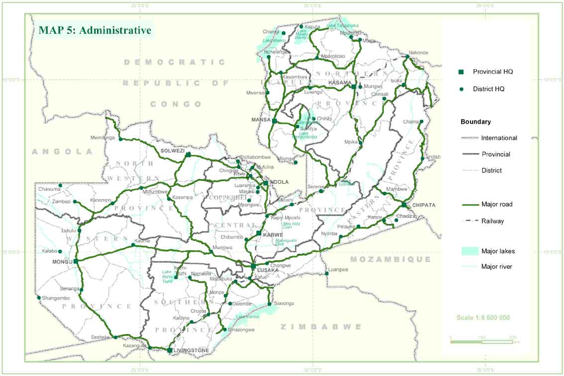 Zambia Map African Bird Club